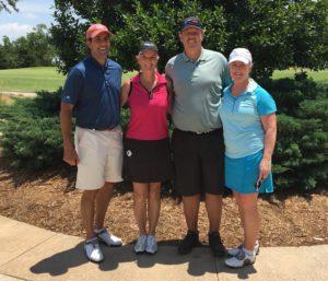 Peter Vitali, Ellen Lisle, Al Swanson and Caroline Gist participated in the 2016 Rotary Golf tournament held June 9 at Gaillardia. Kermit Frank, Chair
